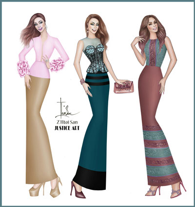 Fashion Illustrator Z Htoi San The Myanmar Times