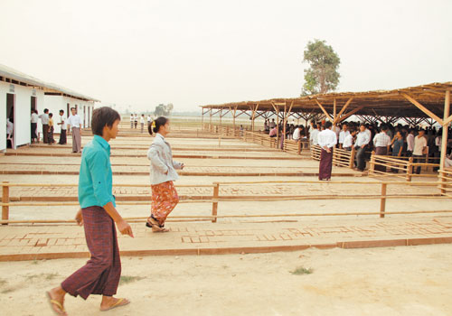 A polling station in Nay Pyi Taw on April 1. Bothee / The Myanmar Times