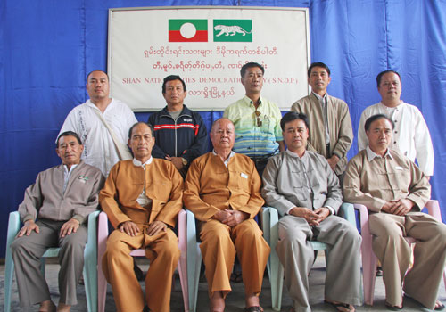 Members of the Shan Nationalities Democratic Party in Lashio. Soe Than Lynn / The Myanmar Times