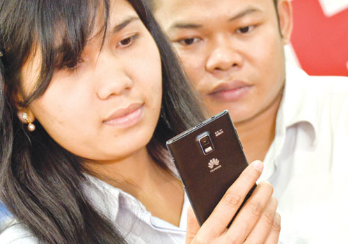 Huawei has a strong presence in Myanmar, through its competitively priced mobile telephones.  Boothee / The Myanmar Times