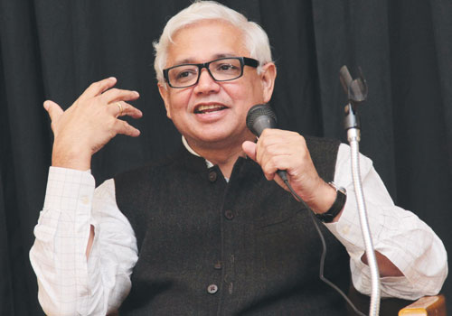 Amitav Ghosh speaks at the Indian embassy in Yangon Thursday, November 15, 2012. (Thiri / The Myanmar Times)