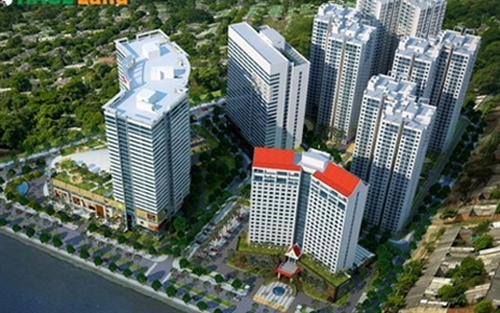 A graphic rendition of the planned Hoang Ang Gia Lai Myanmar Centre to be built in downtown Yangon and completed by 2017. (Hoang Anh Gia Lai Group)