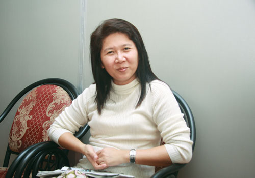 Writer Ma Thida. (Thiri Lu/The Myanmar Times)