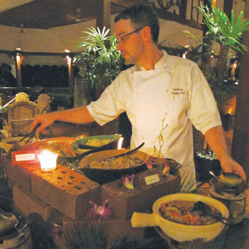 Chef Iain Murray at work at Governor's Residence.(Jessica Mudditt/The Myanmr Times)