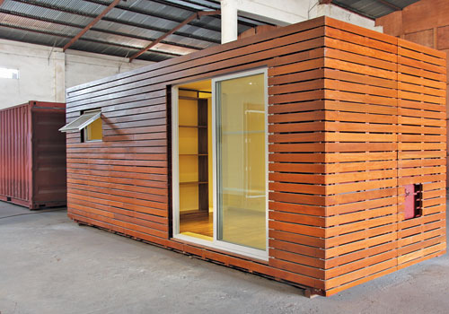Myanmar Home Design prepares their new mobile house models to be introduced soon to the local market. They are already readying plans for export. (Myanmar Home Design)