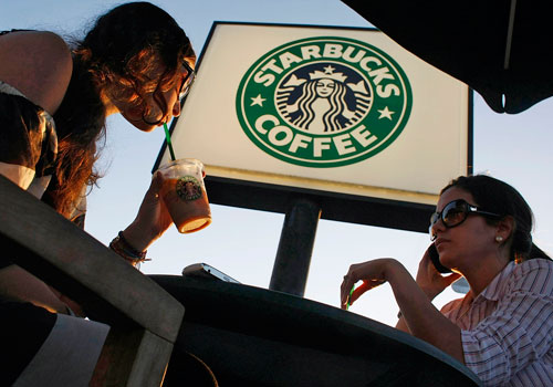 News of a Starbucks Coffee outlet opening in Yangon created a buzz on Facebook in January but the signs were quickly taken after the US firm stated it was not coming to Myanmar yet. Photo: AFP