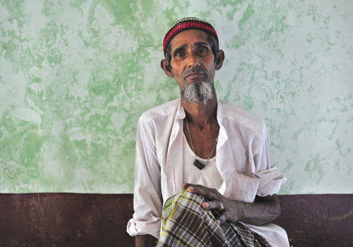 A Muslim man in Rakhine State's Sittwe township in October 2012, shortly after a second outbreak of violence. (Kaung Htet/The Myanmar Times)
