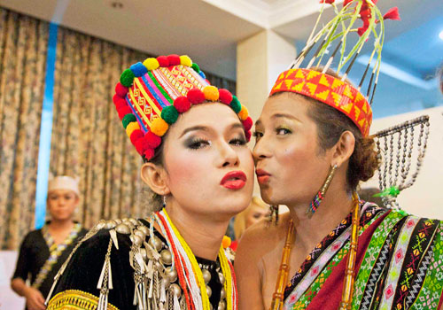 A couple kisses while taking part in an event to celebrate International Day against Homophobia and Transphobia on May 17 in Yangon. Photo: AFP