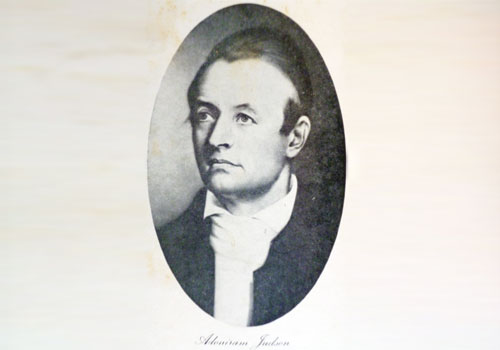 Portrait of Adoniram Judson (1788-1850), the most famous Christian missionary in Myanmar history. Photo: Supplied