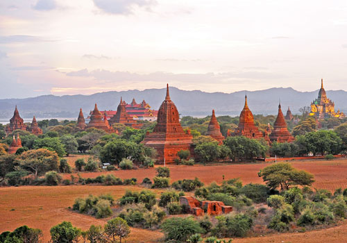 A view of a few of Old Bagan's many historic pagodas. Photo: Philip Heijmans
