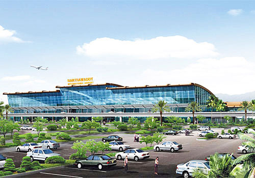 An artist's impression of the proposed Hanthawaddy International Airport, to be built near Bago. Photo: Supplied