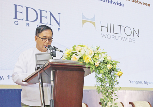 Eden Group chair U Chit Khine, Photo: Yu Yu
