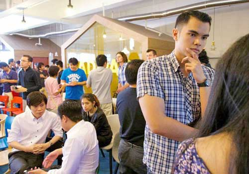More than 60 people gathered in Singapore's startup central to get news on Myanmar's tech scene. Photo: Supplied