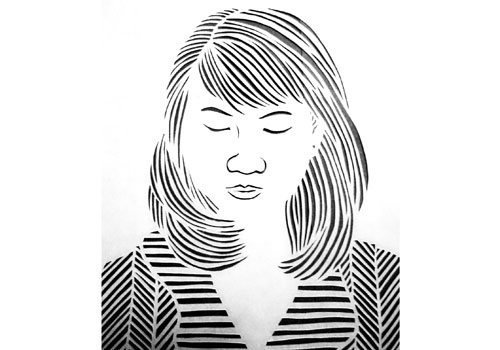 A paper-cut portrait. Photo: Supplied