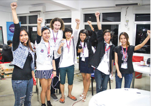 Team Ace won Code For Change Myanmar's Business Solutions Hackathon in September. Photo: Supplied
