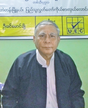 Muslim candidate U Khin Maung Cho. Photo: Guy Dinmore / The Myanmar Times