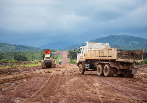 While the future site for Dawei special economic zone is cleared, there is only a little work in evidence. Photo: Aung Myin Ye Zaw / The Myanmar Times