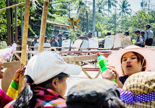 Wagrs have been at the center of Yangon's labour disputes. Photo: Naing Wynn Htoon / The Myanmar Times
