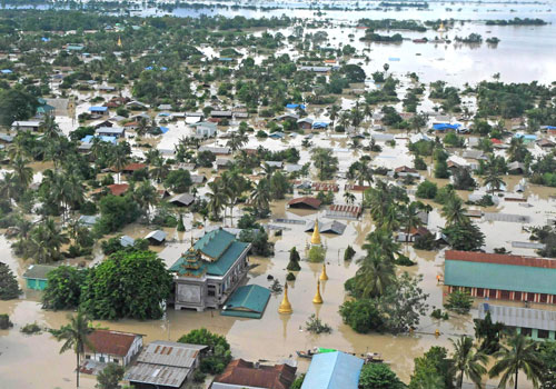 Flooding in Kalay, Sagaing State in 2015. Photo: Staff