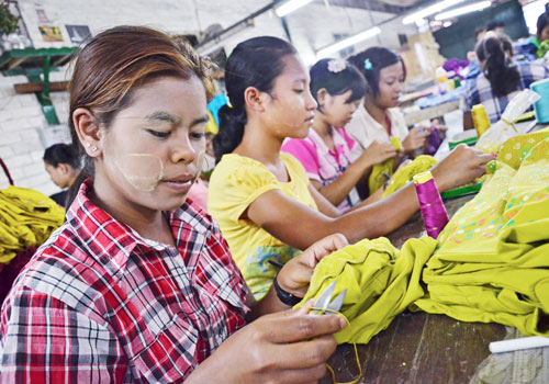 Korean firms are active in garments and other sectors. Photo: Aung Htay Hlaing / The Myanmar Times