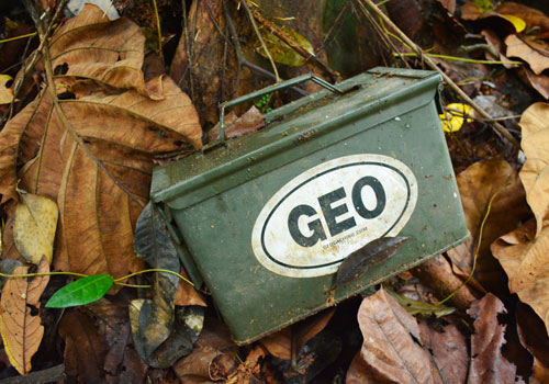 Cache located: A GPS signal will normally bring geocachers within 5 to 10 metres of their treasure, but finding it requires good old-fashioned digging and snooping about.