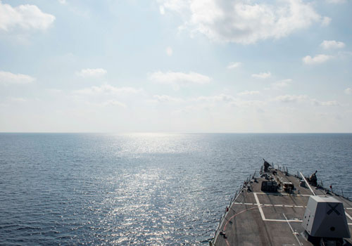 Guided-missile destroyer USS William P. Lawrence (DDG 110) conducting a routine patrol in the South China Sea on May 2, 2016. Photo - EPA