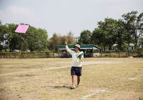 Participants from across the country have come to the 13th Myanmar Kite Flying and Fighting Championships. Zarni Phyo / The Myanmar Times