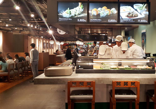 The Japanese dining hall is the first of its kind in Yangon. Photo - The Myanmar Times