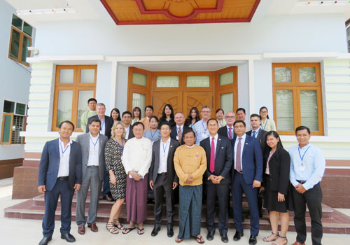 Delegates and local officials who attended the business meeting in Mandalay on May 25. Khin Su Wai / The Myanmar Times