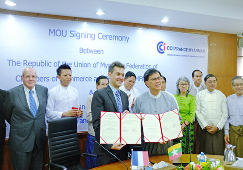 French chamber and umfcci to support myanmar eu trade for French chamber