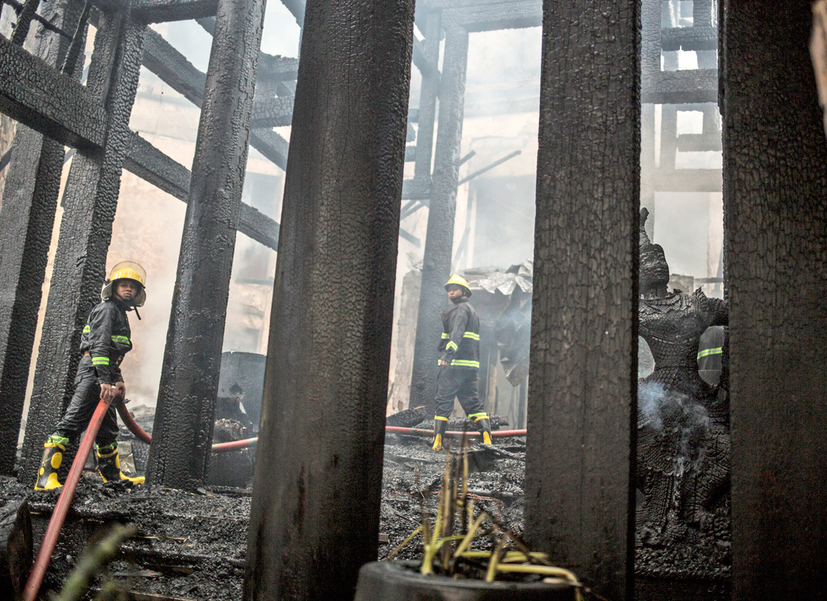 Investigators look into cause of Kandawgyi Palace Hotel fire | The