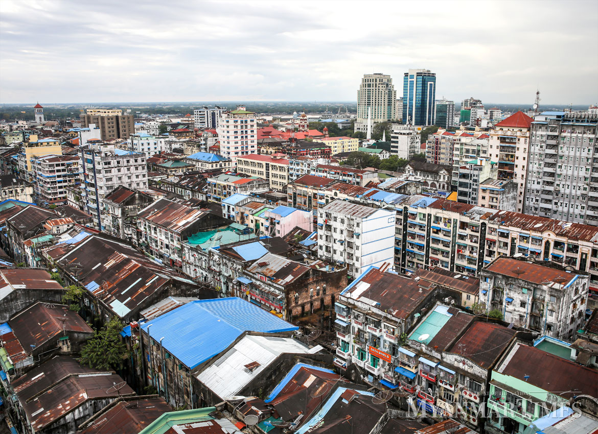 A typical neighbourhood in Yangon. A city should have about 30 percent green area, experts say. Aung Myin Ye Zaw/The Myanmar Times