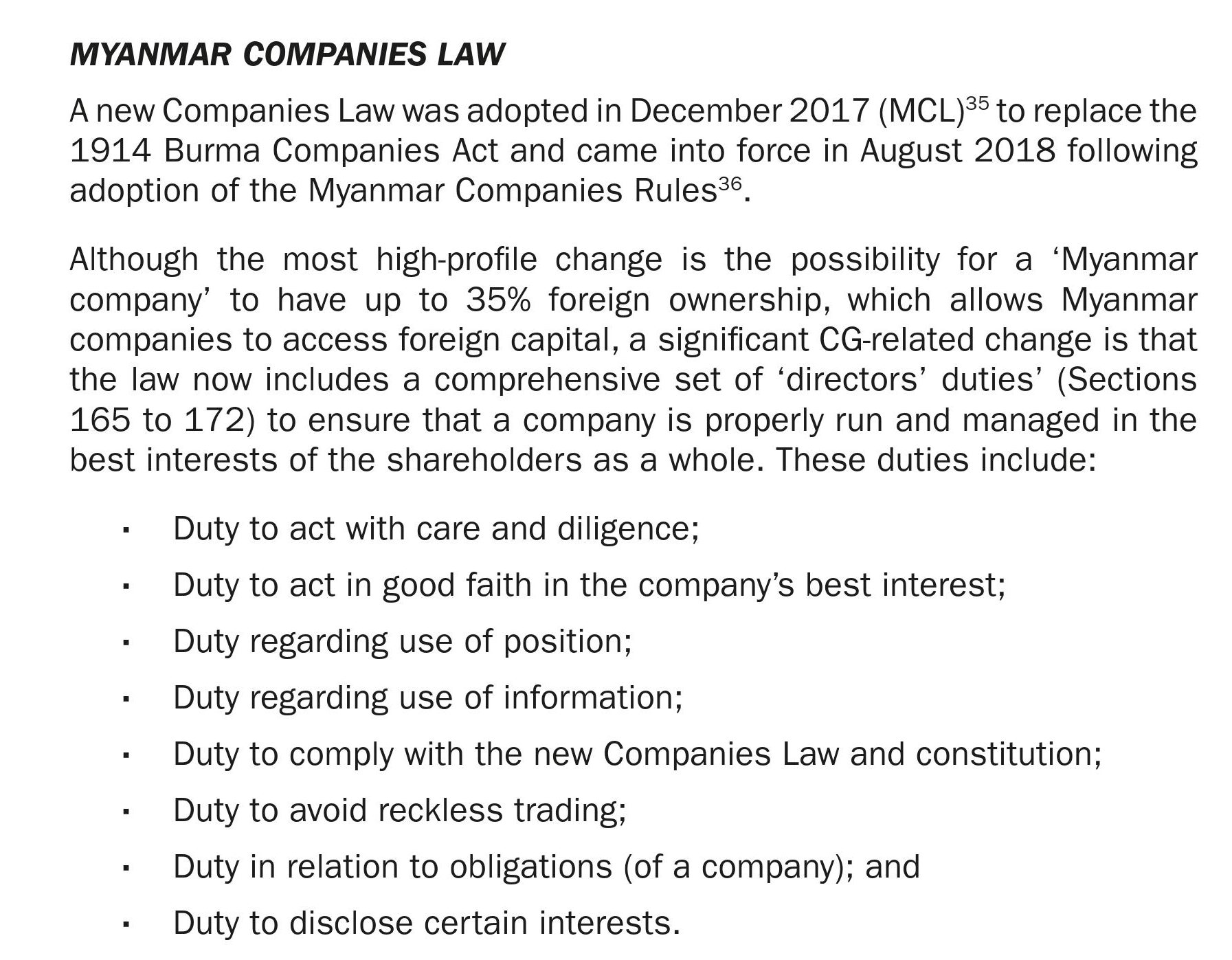 """The new Companies Law includes a comprehensive set of """"directors' duties"""" in Articles 165-172. Photo: Supplied"""