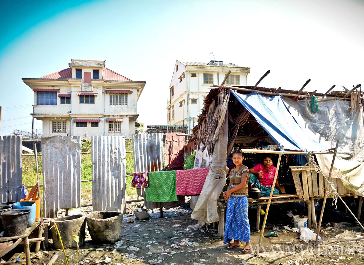 People still endure poor living conditions in parts of Myanmar. Aung Htay Hlaing/The Myanmar Times