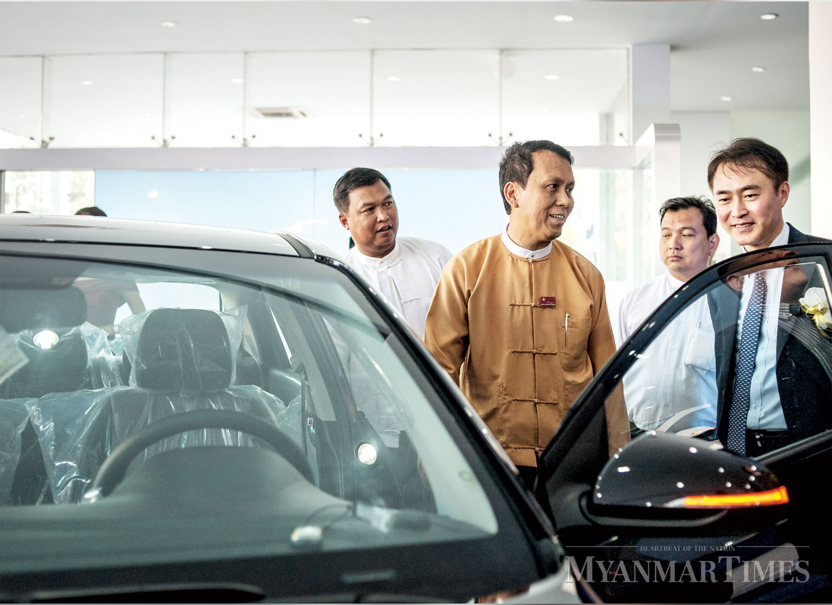 south korean car maker opens first assembly plant in myanmar   the