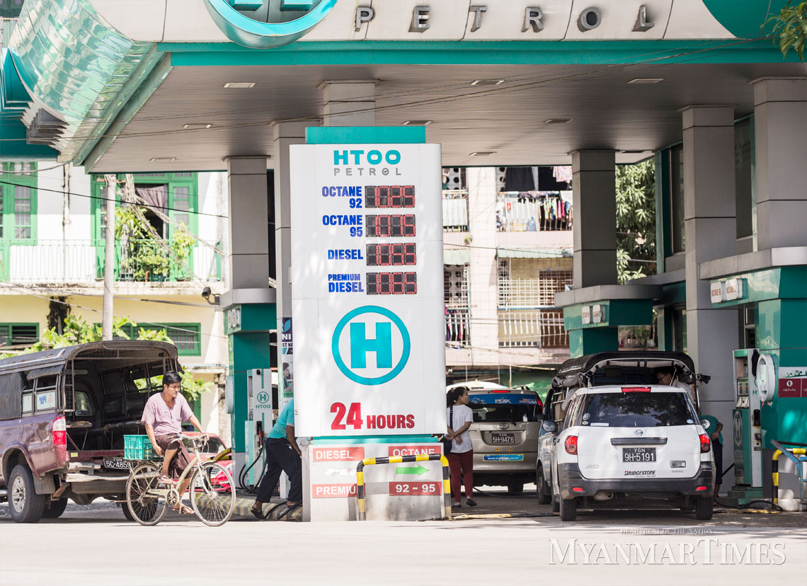 Fuel prices in September (pictured) were higher than current levels. Zarni Phyo/The Myanmar Times