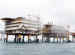 A general view of the Iranian South Pars quarter one (SPQ1) gas platform in the Persian gulf waters in 2011. Photo - EPA