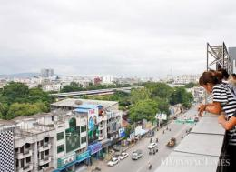 Overview of Mandalay downtown at the back of 78th street. Photo: Phyo Wai Kyaw/The Myanmar Times