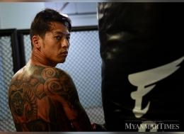 Phoe Thaw poses for a photo during his training. Photo: Aung Htay Hlaing/The Myanmar Times