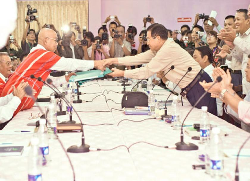 Govt Knu Sign Ceasefire The Myanmar Times