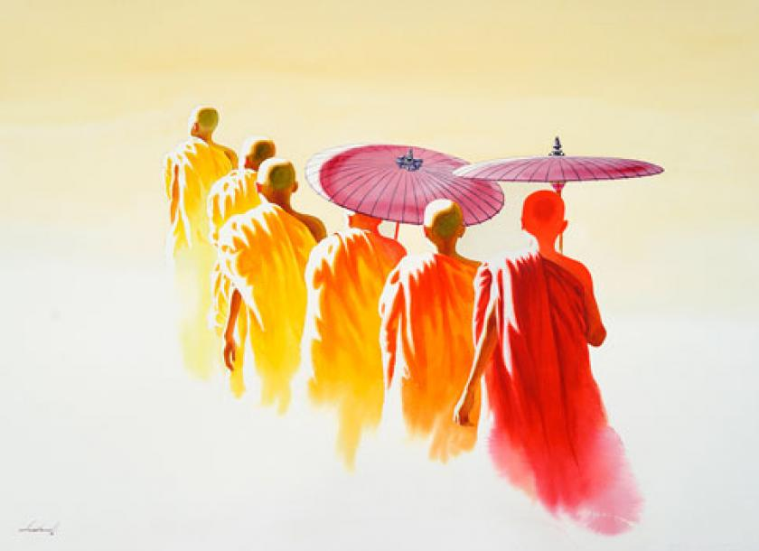 the journey begins with london exhibition for myanmar artist the