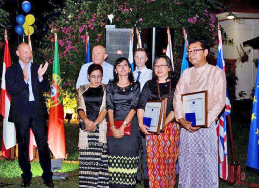 first ever schuman awards granted to myanmar citizens the myanmar