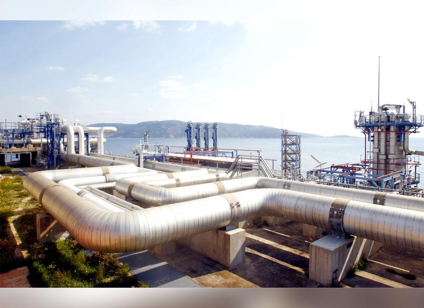 A file photo of part of a liquified natural gas plant in Europe. Work on a similar project is expected to start in Ayeyarwady Region in July. Photo - EPA