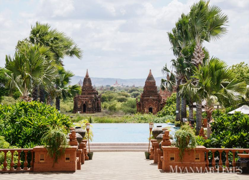 A view of Bagan from a nearby hotel. Aung Htay Hlaing/The Myanmar Times