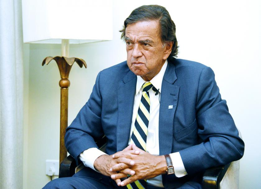 Bill Richardson during an interview on Wednesday