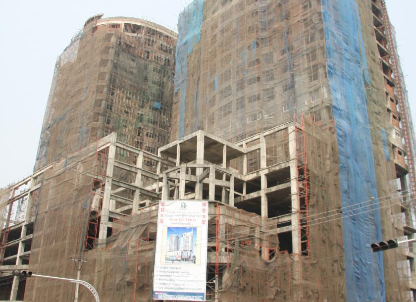 A Condominium Property Under Construction In Yangon Living Standards Are Rising As Buyers Demand Better