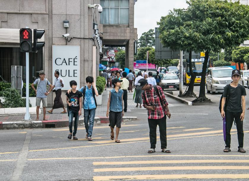 Image result for pedestrians trying to cross a busy street photos