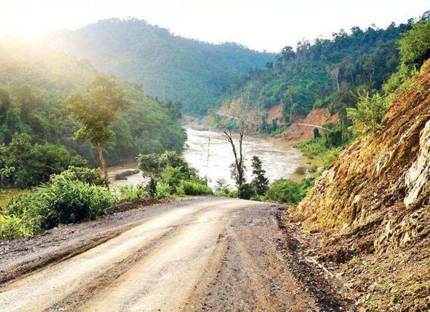 Part of the new road that will connect Dawei to the Thai border in Tanintharyi Region. Photo - WWF