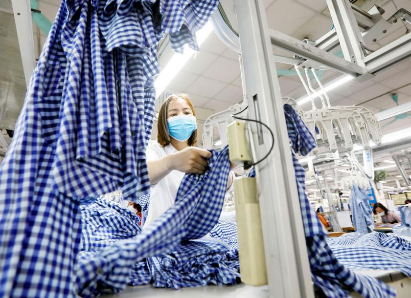 A file photo of a garment worker in Southeast Asia. The EU says it will continue engaging with developing countries, including Myanmar, under its trade preferences initiatives. Photo - EPA