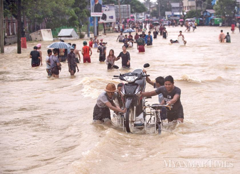 five dead nearly 100 000 displaced by myanmar floods the myanmar